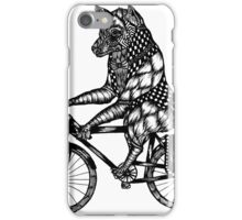 Wolf on a Bike Ride  iPhone Case/Skin