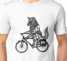 Wolf on a Bike Ride  Unisex T-Shirt
