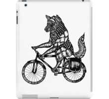 Wolf on a Bike Ride  iPad Case/Skin