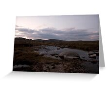 kosciuszko - Snowy River Dusk Greeting Card