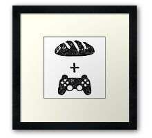 Bread and circuses (bread and video-games) Framed Print