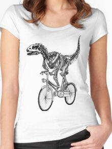 Skeleton Fossil Love Bike  Women's Fitted Scoop T-Shirt