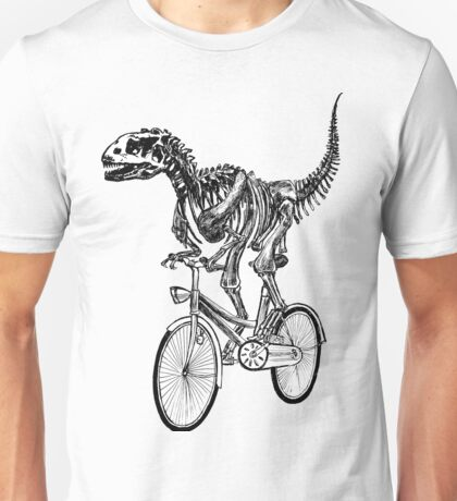 Skeleton Fossil Love Bike  Unisex T-Shirt
