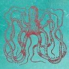 Octopus Macropus by jackshoegazer
