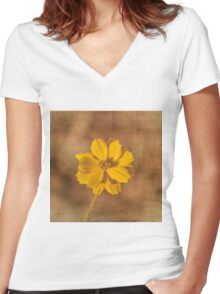 Marigold Women's Fitted V-Neck T-Shirt