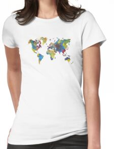 World Map 2050 Womens Fitted T-Shirt