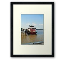 Mississippi River Boat in NOLA Framed Print