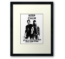 Keep Calm Dial-a-Winchester Framed Print