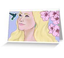Dreams of a humming bird Greeting Card