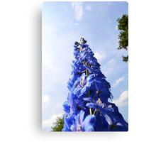 Blue Flower Tower Canvas Print