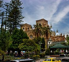 Palm Sunday In Cuenca Ecuador by Al Bourassa