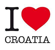 I ♥ CROATIA Photographic Print