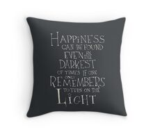 Happiness - Harry Potter quote Throw Pillow