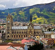 Old Cathedral in Quito, Ecuador by Al Bourassa