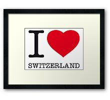 I ♥ SWITZERLAND Framed Print