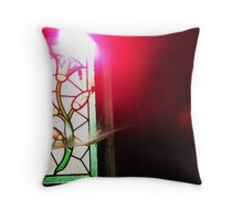 Floral Stained Glass - Paris Throw Pillow