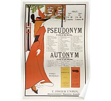 Poster for 'The Pseudonym and Autonym Libraries' Poster