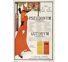 Poster for 'The Pseudonym and Autonym Libraries' Photographic Print
