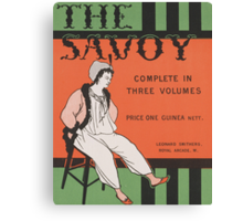 Design for the front cover of 'The Savoy: Complete in Three Volumes' Canvas Print