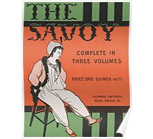 Design for the front cover of 'The Savoy: Complete in Three Volumes' Poster