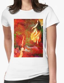 The farewells of the siren to the angel Uriel Womens Fitted T-Shirt