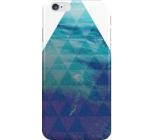 Blue Pyramid landscape geometric iPhone Case/Skin
