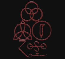 LED ZEPPELIN - SYMBOLS - RED FIRE by Endlessgrief