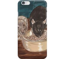 Rats and bowl. iPhone Case/Skin