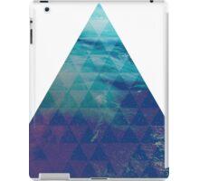 Blue Pyramid landscape geometric iPad Case/Skin
