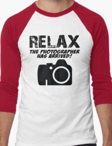 RELAX The Photographer Has Arrived! Men's Baseball ¾ T-Shirt