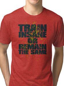 Train insane or remain the same Tri-blend T-Shirt