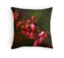 Coral Bells Ringing  Throw Pillow
