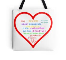 Love in languages Tote Bag