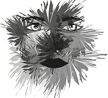 Black and White Face Art by Hannah94
