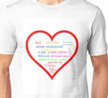 Love in languages Unisex T-Shirt