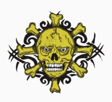"Skull T and X ""Cross Bow"" Yellow Faced by artkrannie"
