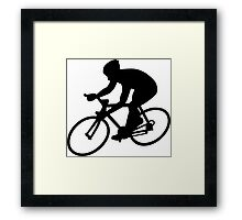 Cycling race Framed Print
