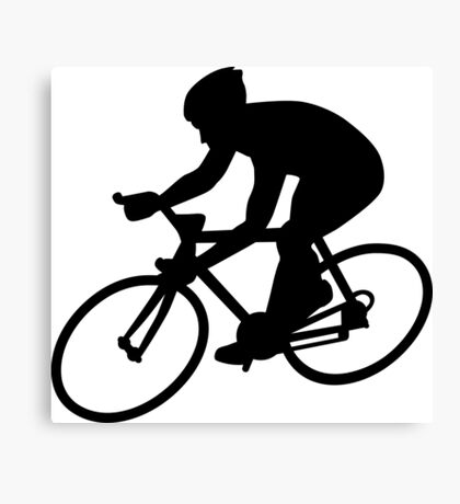 Cycling race Canvas Print