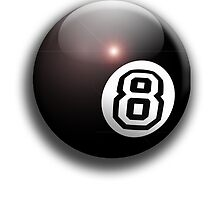 Eight Ball, Pool 8 Ball, Eightball by TOM HILL - Designer