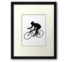 Bicycle racing Framed Print