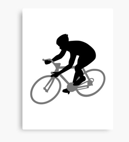 Bicycle racing Canvas Print