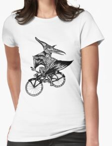 Pterosaur Bicycle Womens Fitted T-Shirt