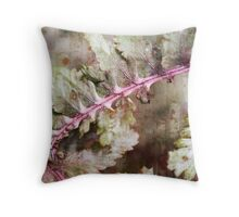 Japanese Painted Fern on Brick Throw Pillow