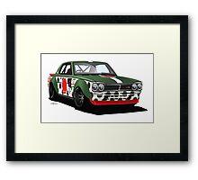 WWII-Themed Vintage Skyline Racer Framed Print