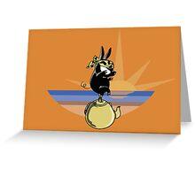 The Karate Pig Greeting Card