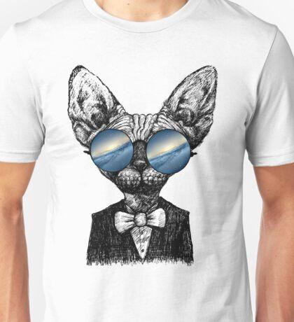 Galaxy Cat Sphynx Sunglass  Unisex T-Shirt