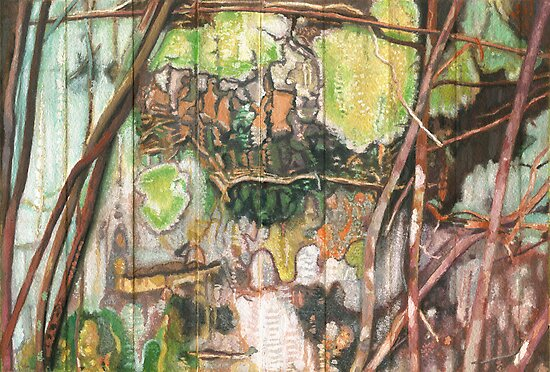 On the Outer ~ Tree Trunk Extracts (flat detail section 2)   by Kerryn Madsen-Pietsch