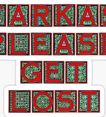 Farkas Please Get Lost Sticker