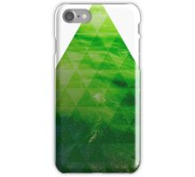 Green Pyramid landscape geometric iPhone Case/Skin