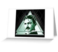 Tri-Tesla Greeting Card